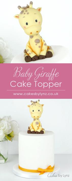 Baby Giraffe cake topper tutorial