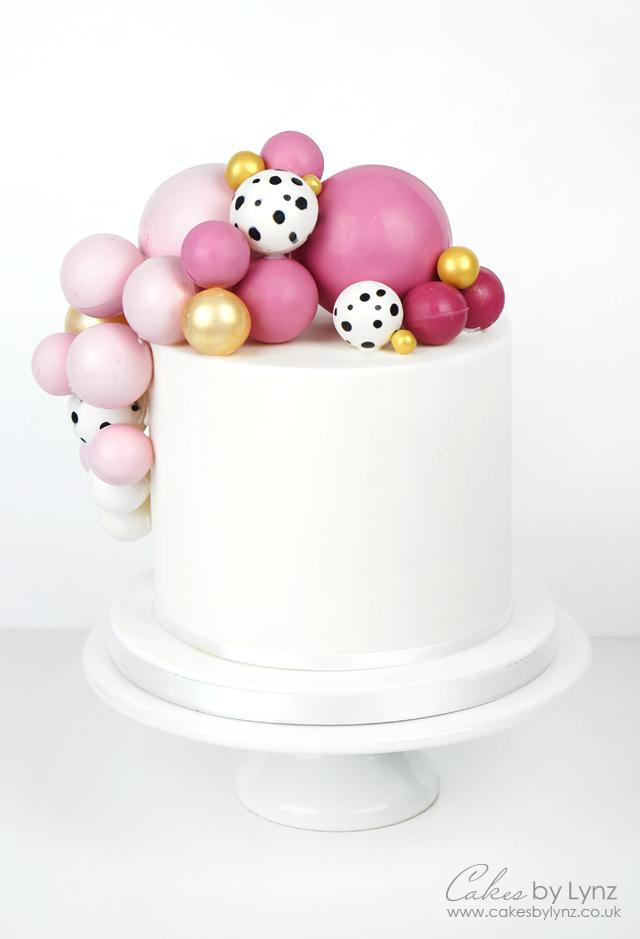 Chocolate Balls spheres cake tutorial