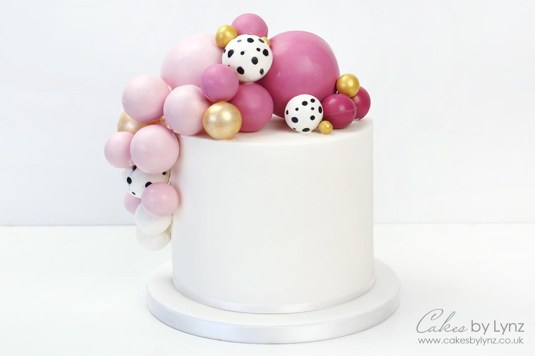 Chocolate Balls / sphere balloon cake tutorial