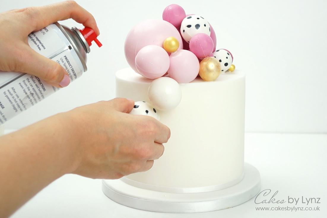 Chocolate Balls Cake Spray Ice