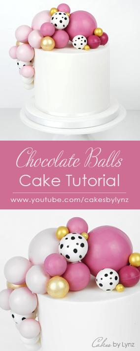 Chocolate Balls / spheres Cake tutorial