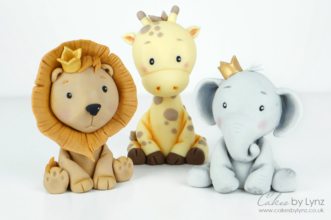 cute baby animal cake toppers