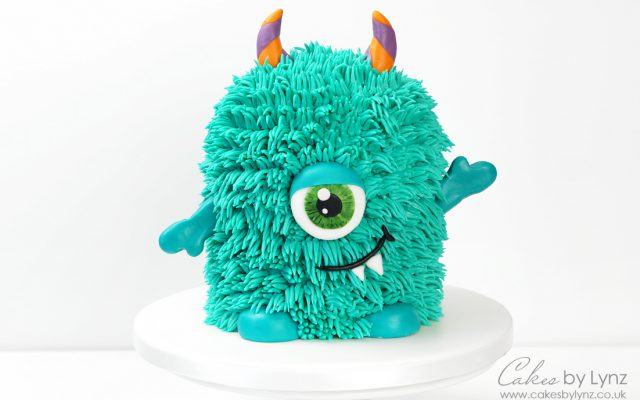 Halloween Monster Cake with buttercream fur