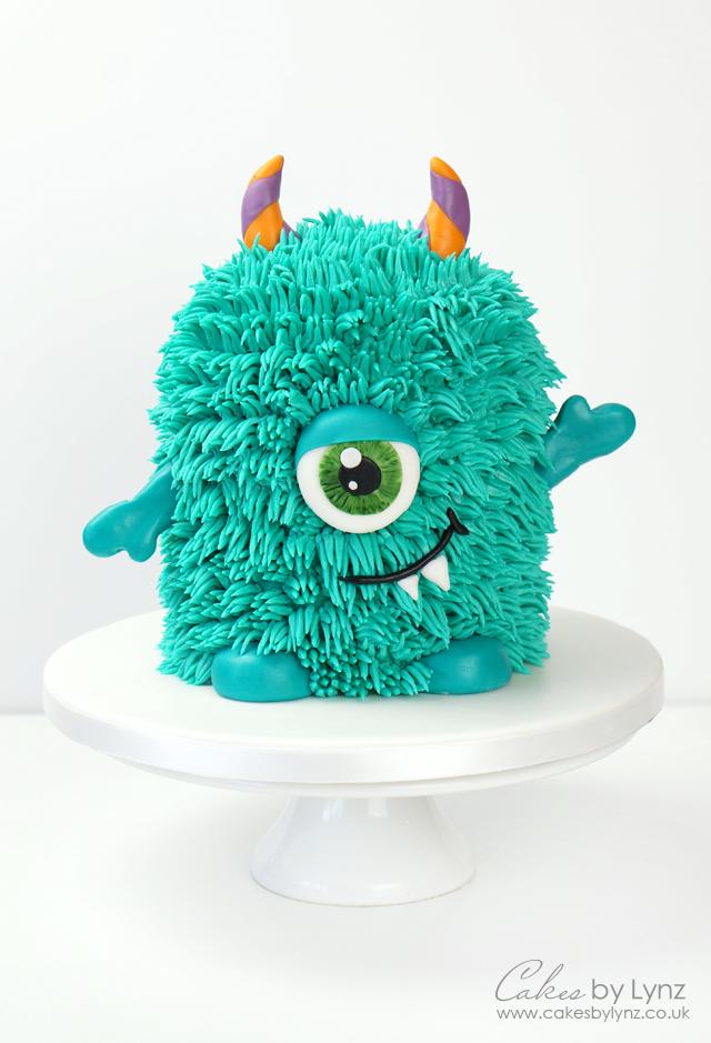 Buttercream Monster Cake with Buttercream fur
