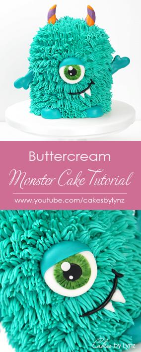 Buttercream Monster Cake Tutorial