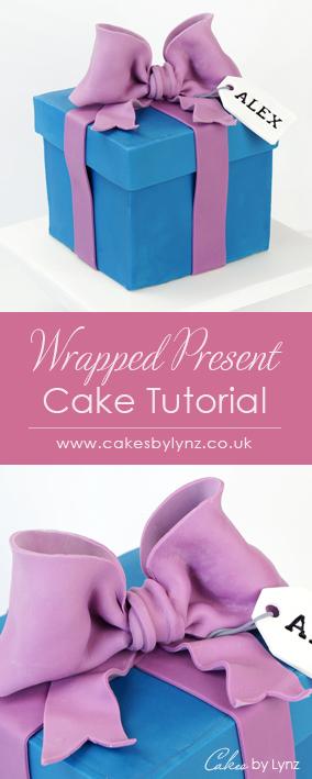 gift box Present Cake tutorial