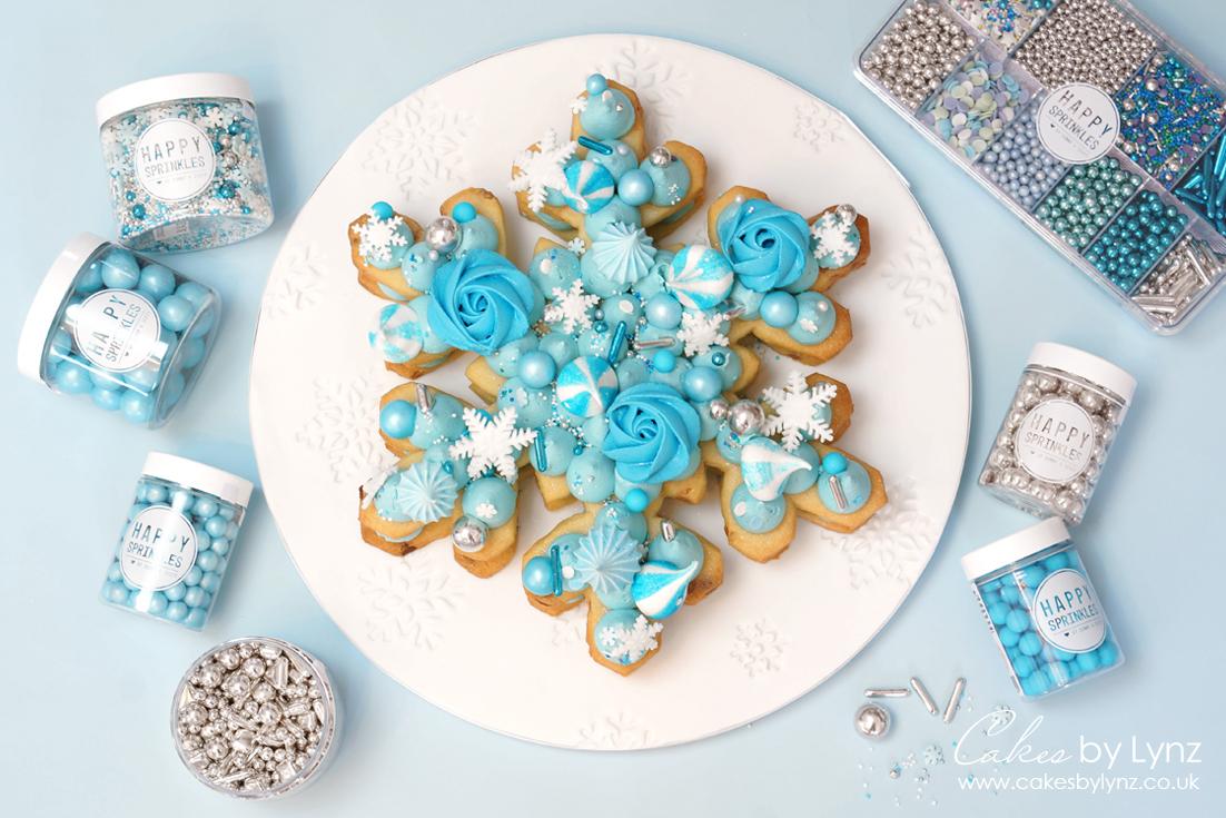 Snowflake Cookie Cake Tutorial with Recipe – Plus 10% off Happy Sprinkles