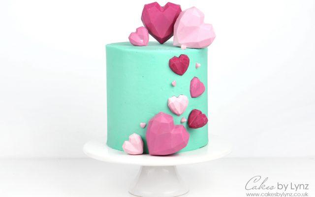 how to make a Geometric Cake Heart Cake