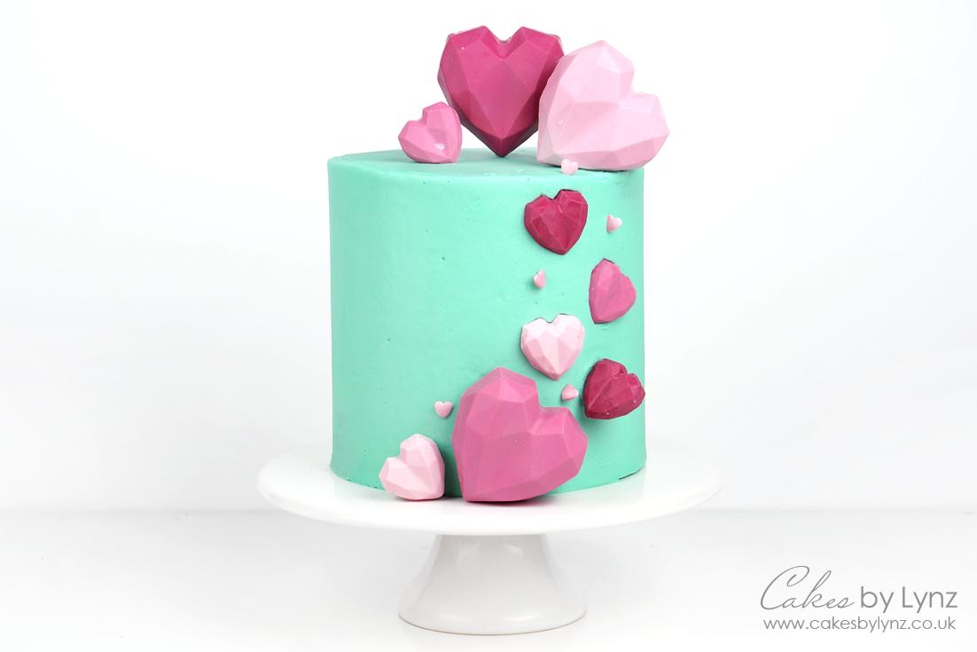 Geometric Heart Cake Tutorial – Plus 10% off Fest Cake London Moulds
