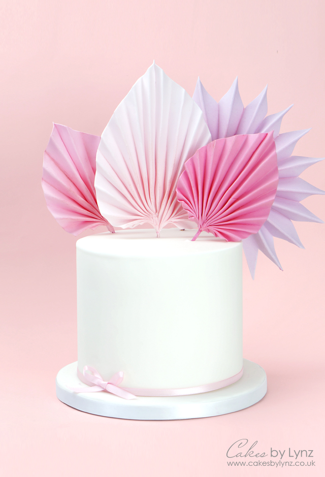 How to make sugar gumpaste palm leaves for cakes