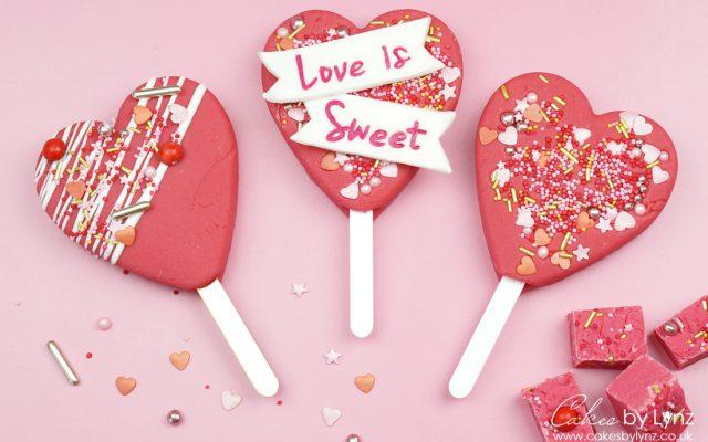 Vanilla Fudge Heart Popsicle valentines Lolly