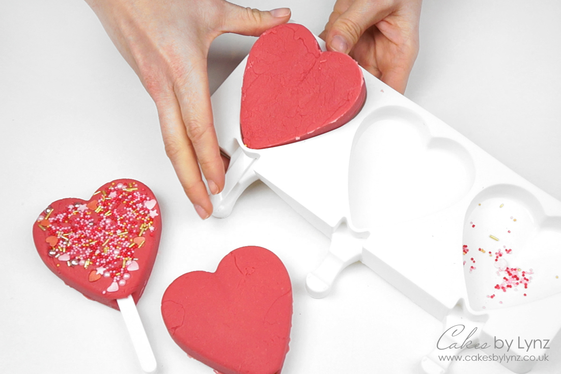 fudge heart popsicles mould
