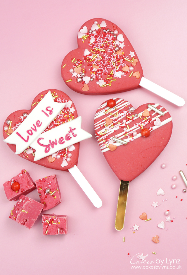 fudge heart popsicle lolly recipe