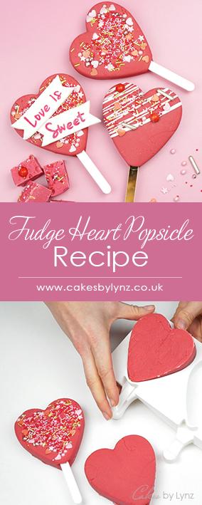 Fudge heart popsicle valentines lolly recipe