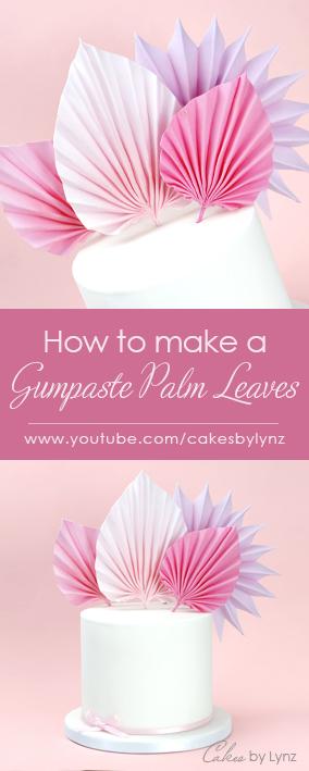 how to make sugar palm leaves cake tutorial