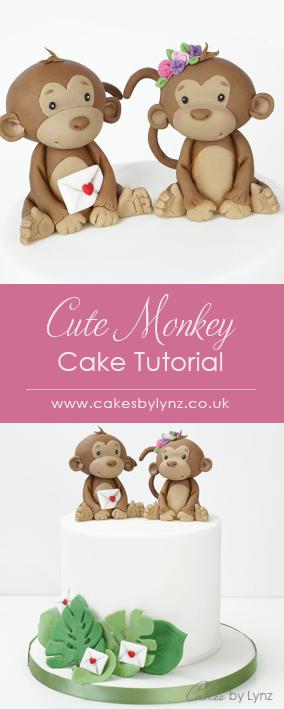 Cute Monkey cake topper tutorial