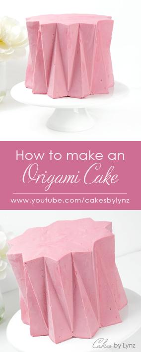 Origami ganache cake decorating technique tutorial