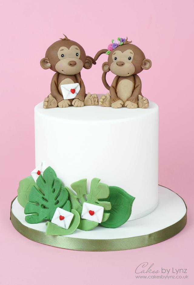 Valentines Jungle Monkey Cake Topper tutorial