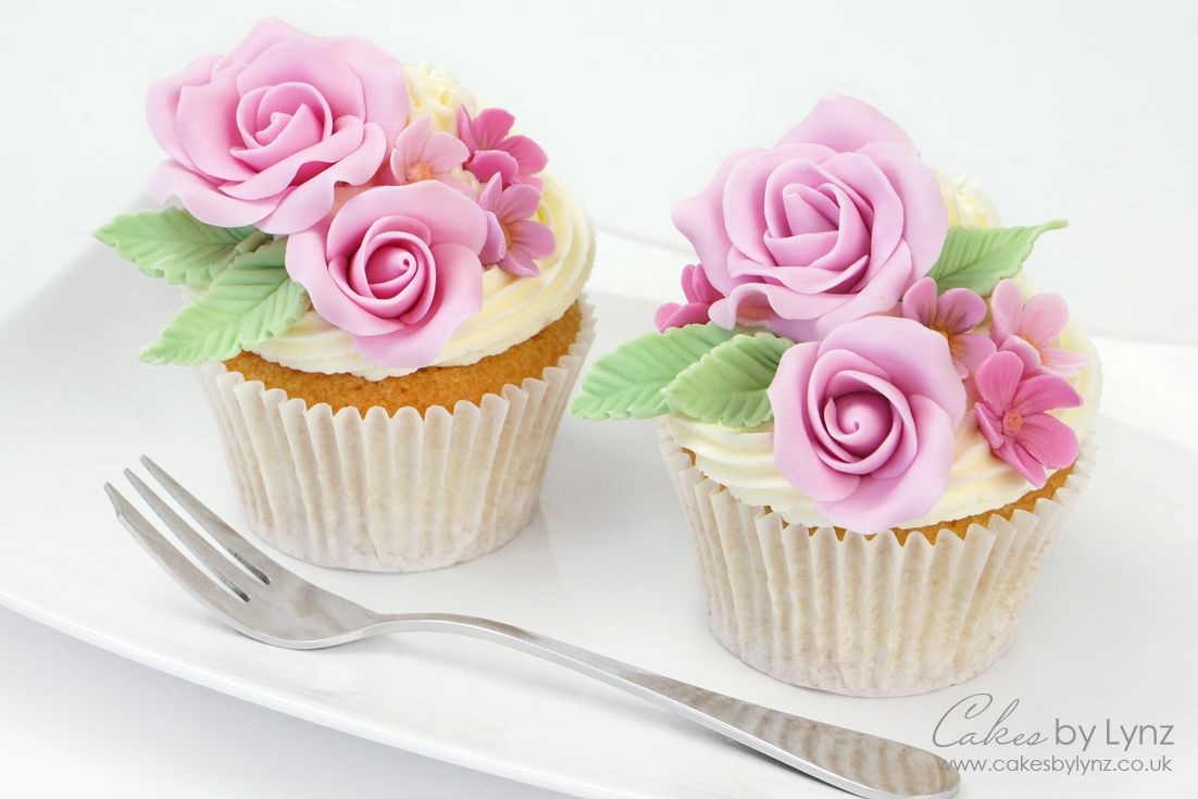 Fondant Flower Rose Cupcake Tutorial – Mother's Day Cupcakes