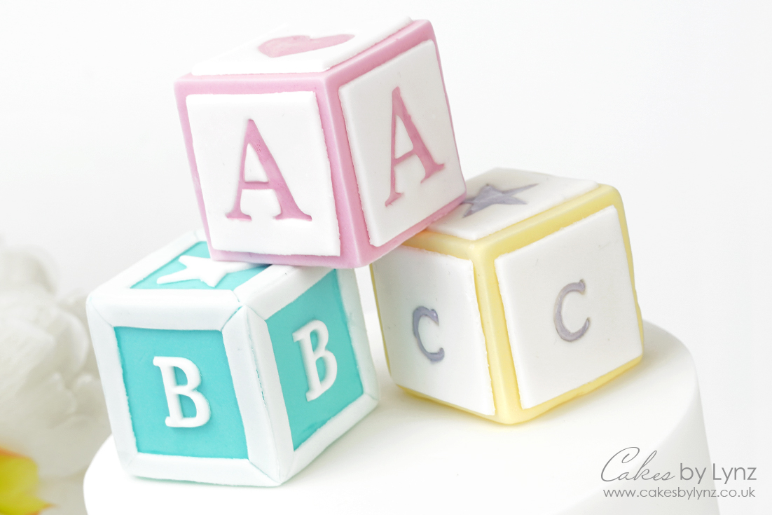 How to make fondant baby blocks for your cakes