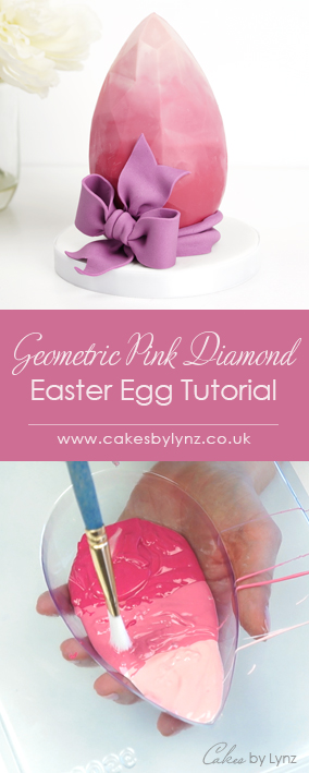 pink ombre geometric easter egg tutorial