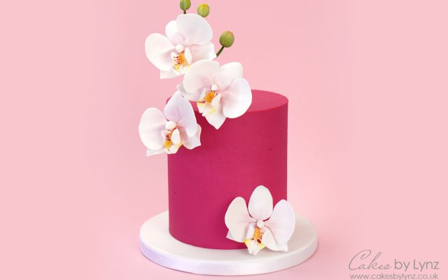 how to make a Gumpaste sugar orchid for cakes