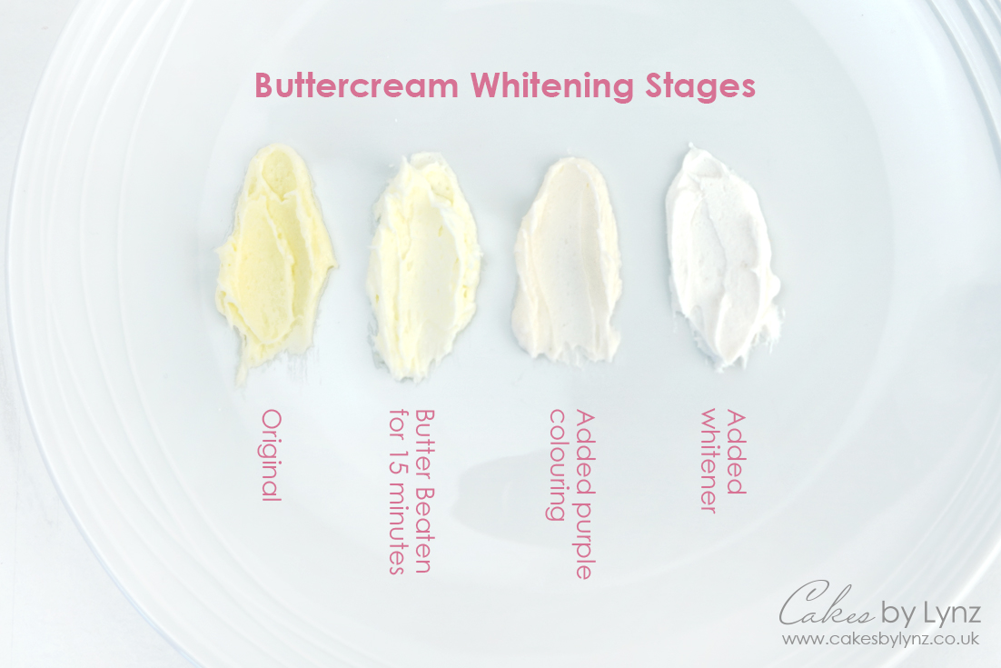 how to make your buttercream white 1