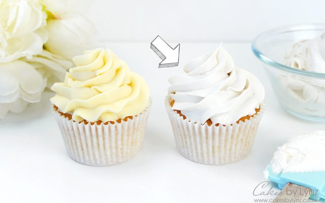 how to make your buttercream white 6