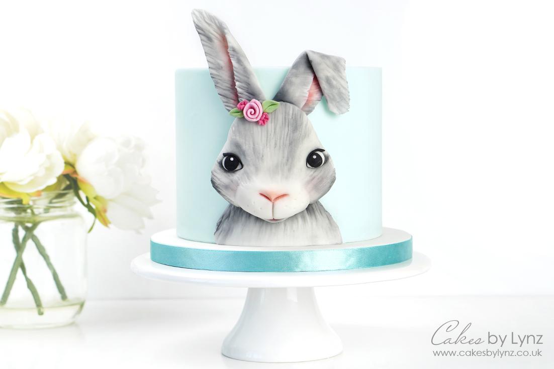 3D Bunny Rabbit Plaque Cake Tutorial