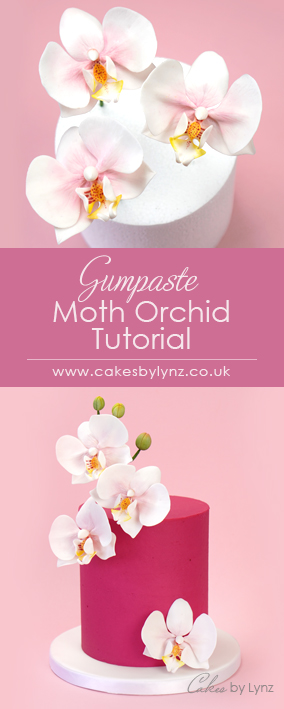 how to make a Gumpaste sugar moth Orchid for your cake