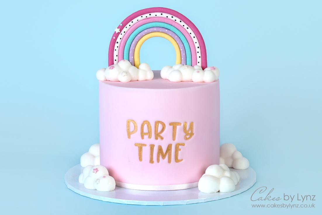 How to make a rainbow cake tutorial