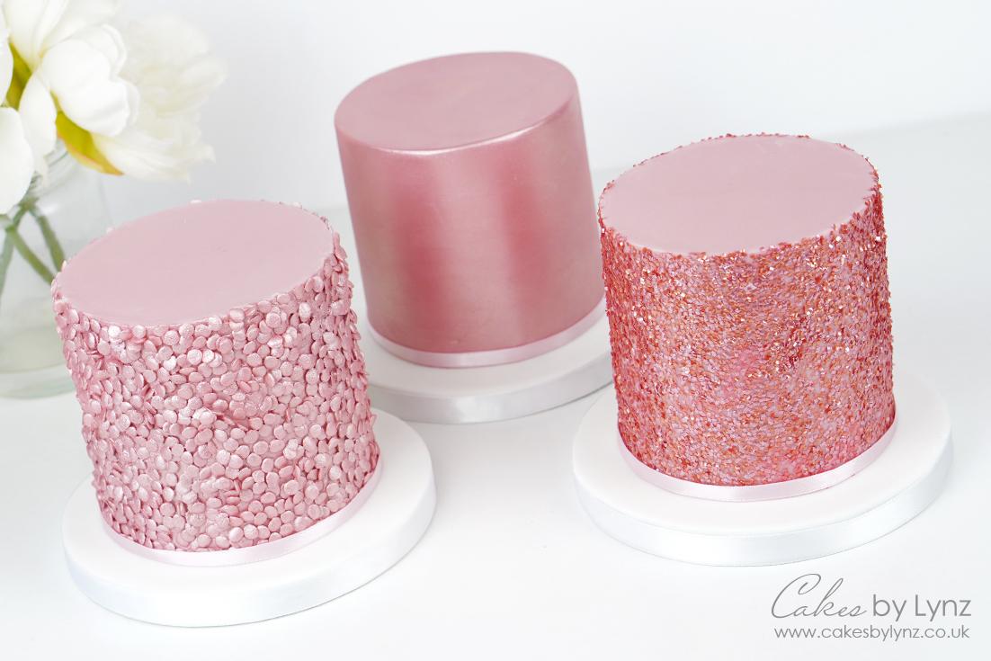 Shimmer & glitter cakes tutorial