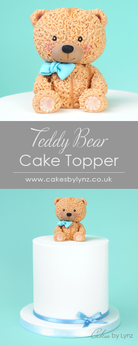 Teddy Bear Cake Topper tutorial