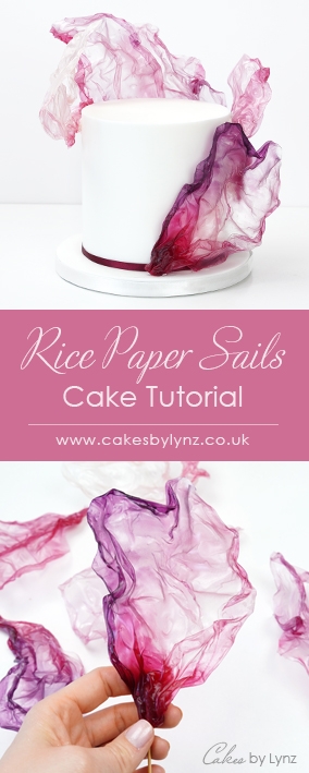 Rice paper Sails cake Tutorial