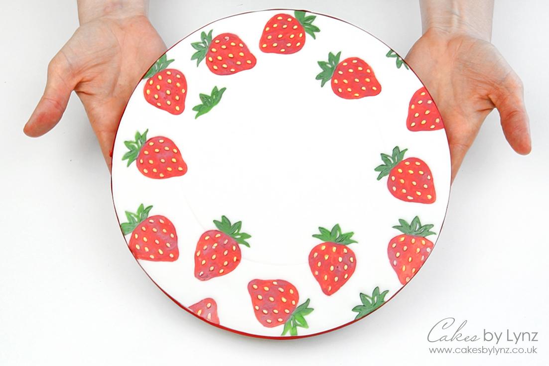 tutti Fruity strawberry cake board