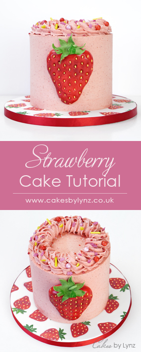 buttercream Strawberry cake tutorial with recipe
