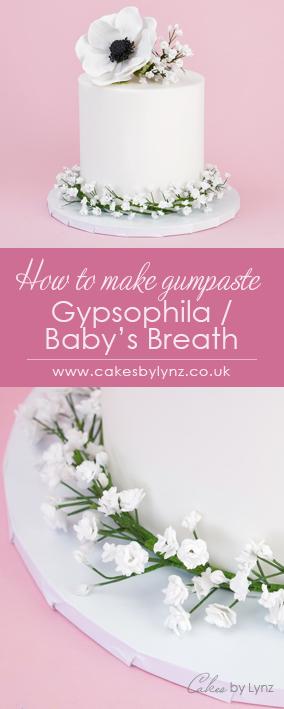 gumpaste gypsophila / baby's breath to add on to cakes
