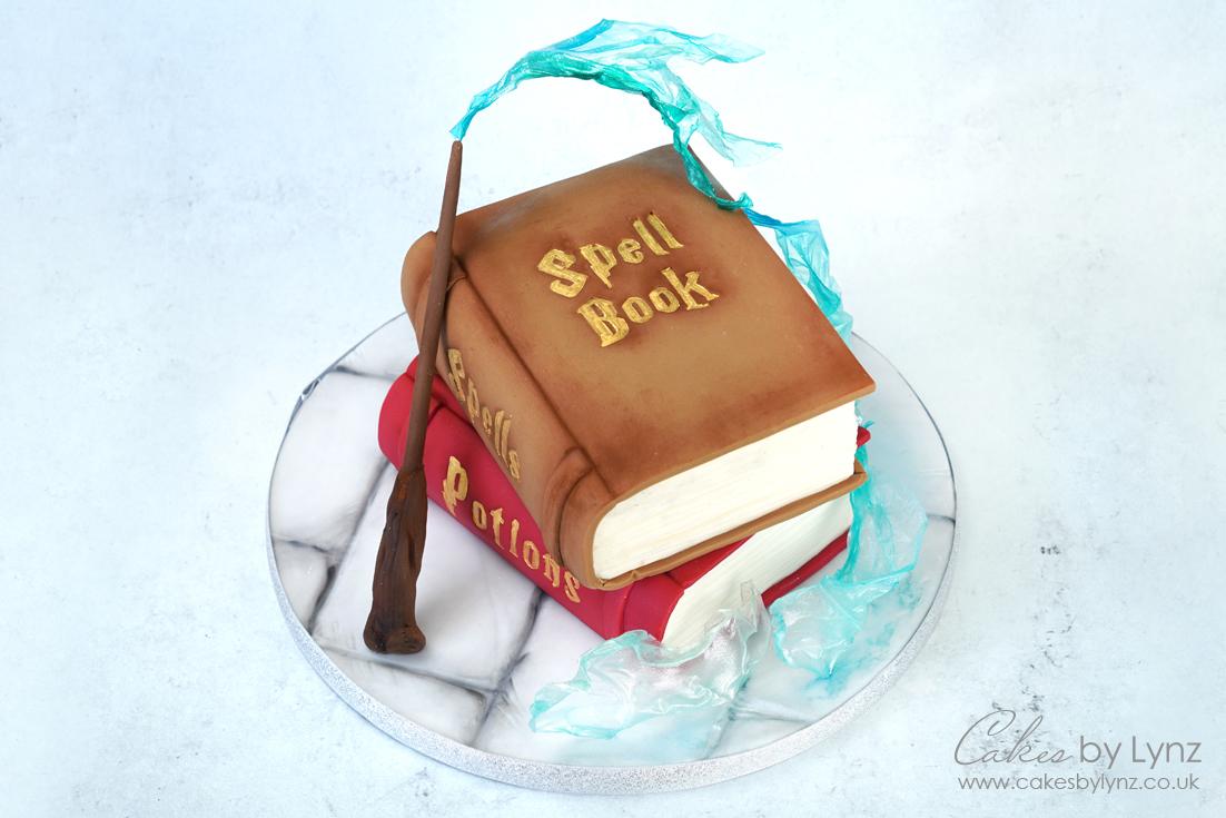 Magical Spell book cake decorating tutorial