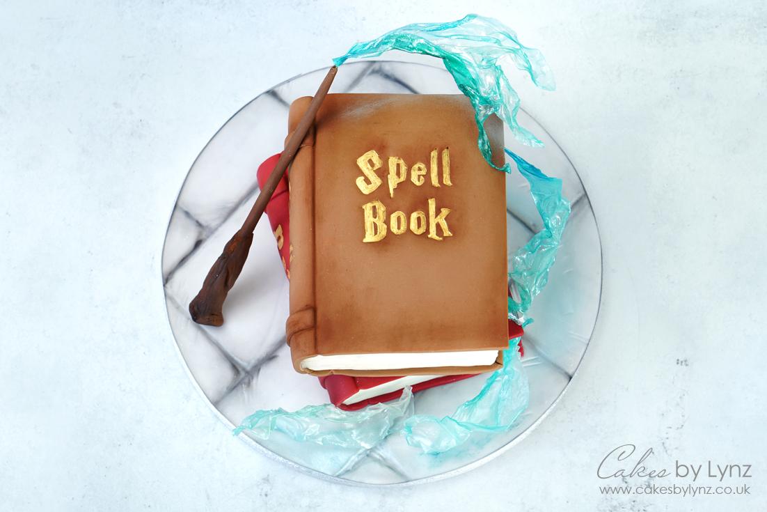 Magical Spell book cake tutorial