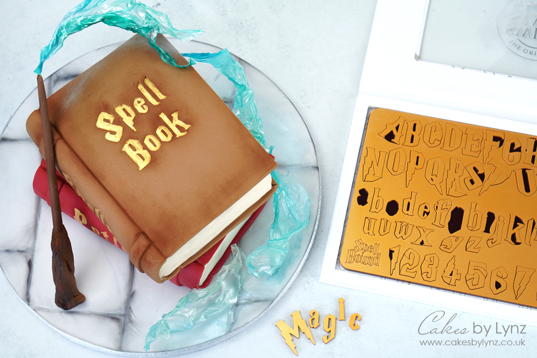 Sweet Stamp Spell Bound Harry Potter Letter Set for magical book cake
