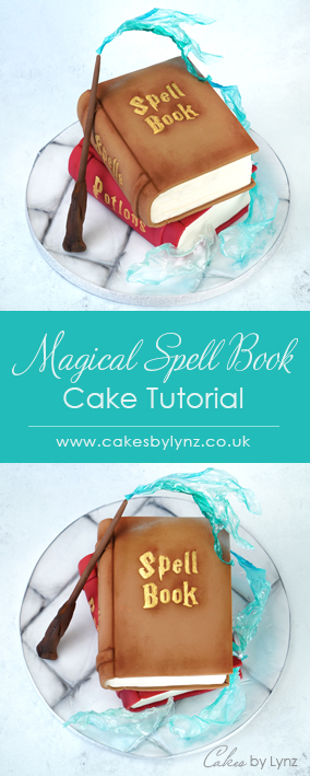magical spell book Harry Potter cake