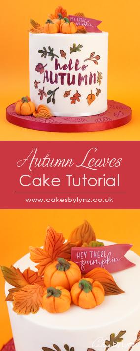 Autumn Fall cake tutorial