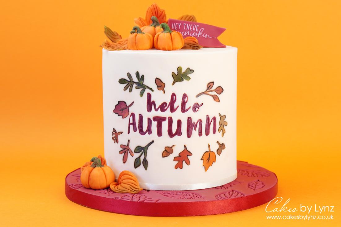 Autumn leaves cake tutorial 6