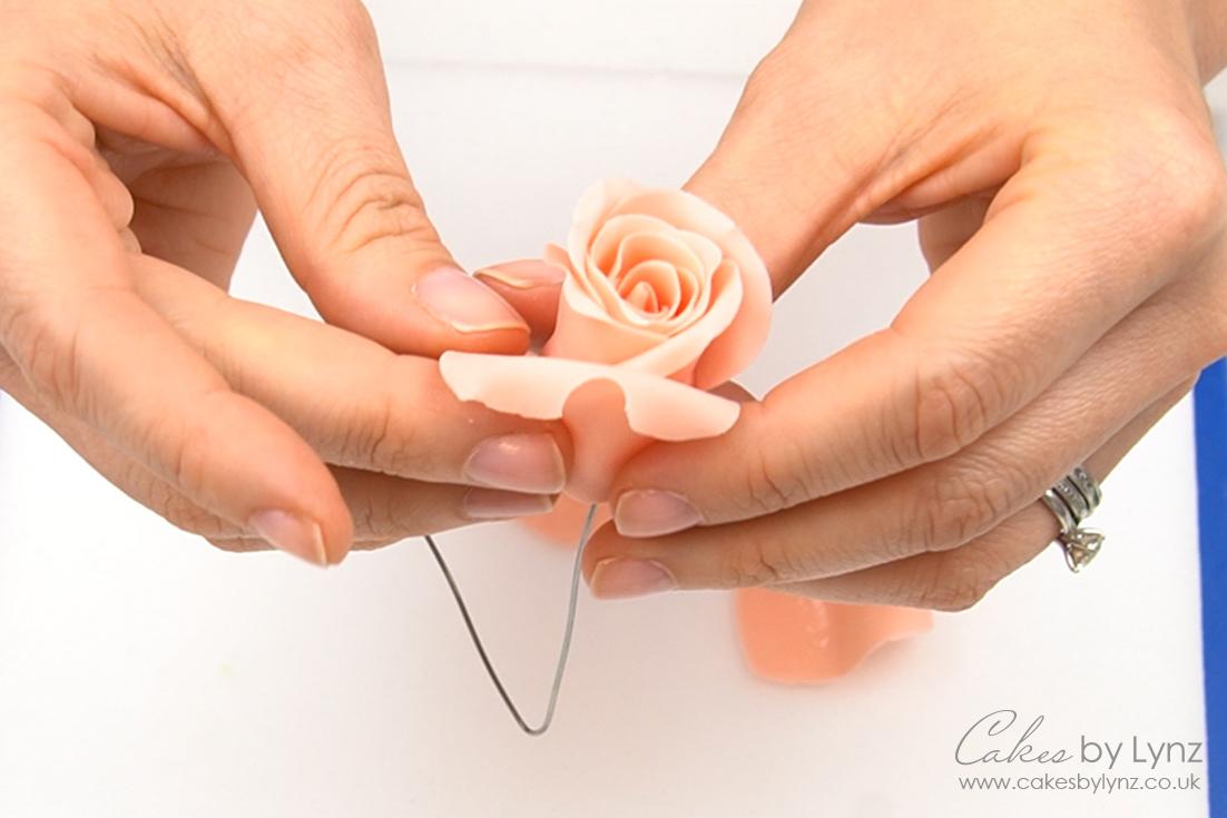 how to make Gumpaste roses tutorial
