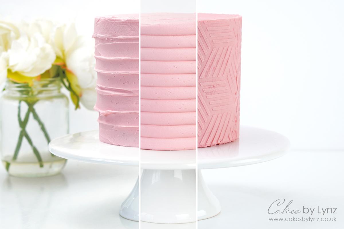 Adding texture onto your buttercream cakes