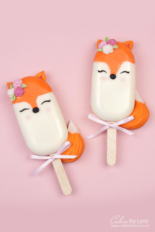 Fox cakesicles popsicle tutorial