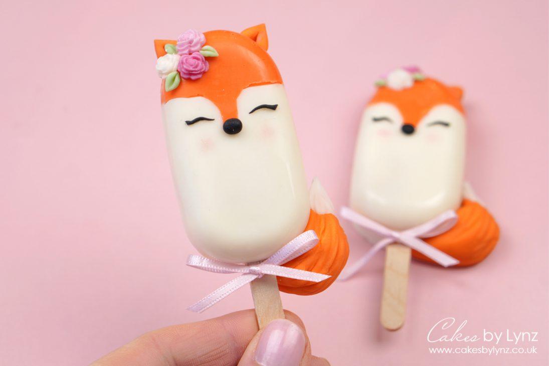 fox cakesicles tutorial