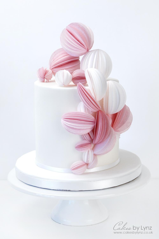 Wafer Paper Cake Decoration tutorial - A modern wedding cake
