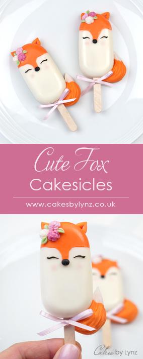woodland fox cakesicles tutorial